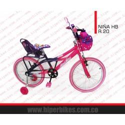 Bicicleta Niña HiperBikes  Rin 20