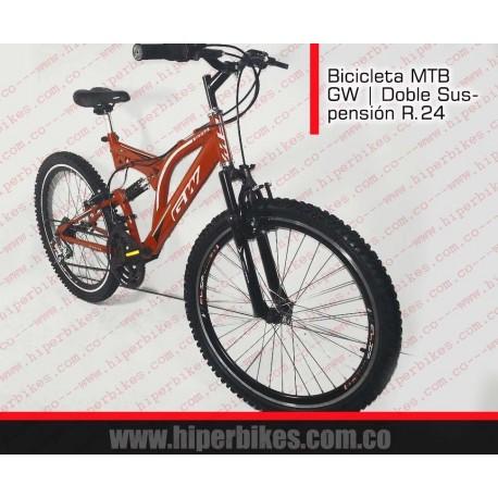 Bicicleta TODOTERRENO GW DOBLE SUSPENSIÓN Rin 24  Bogotá