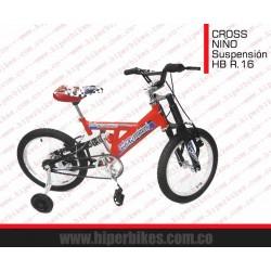 Bicicleta Suspensión Niño  Rin 16 Bogotá