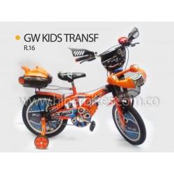 Bicicleta Niño GW KIDS TRANSF  Rin 16 Bogotá