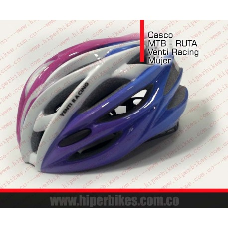 CASCO  VENTI  RACING  WOMEN  MTB - RUTA