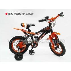Bicicleta Niño GW TIPO MOTO  Rin 12 Bogotá