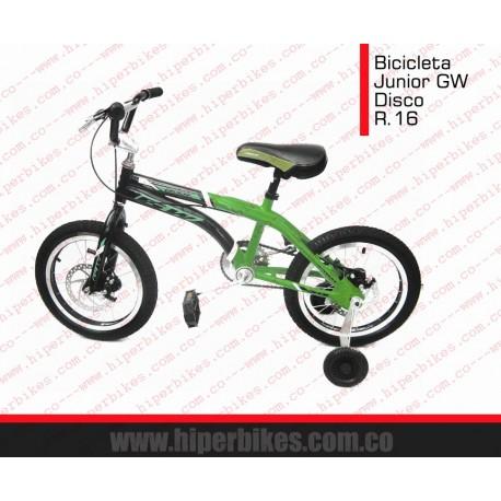 Bicicleta Niño CROSS GW DISCO  Rin 16 Bogotá