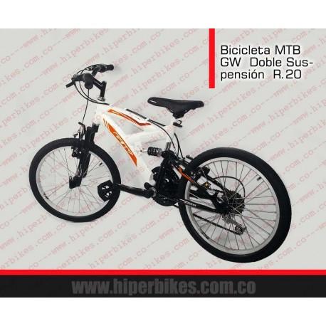 Bicicleta Niño TODOTERRENO GW SUSP  Rin 20 Bogotá