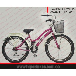 Bicicleta PLAYERA MUJER  - URBANA Rin 24   Bogotá
